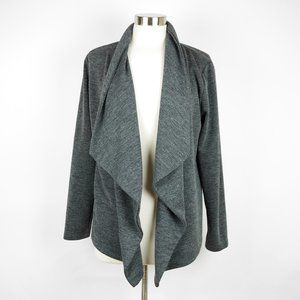 Ann Taylor Gray thin knit open cardigan sweater